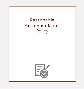 Reasonable Accommodation Policy