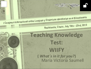 Teaching Knowledge Test: WIIFY