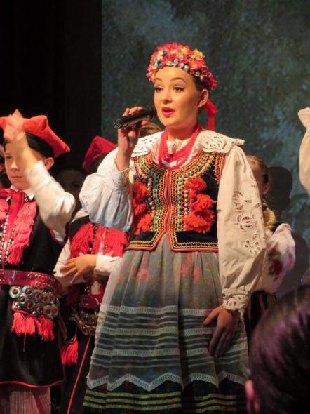 Celebration of Poland's centenary of indpendance in traditional Krakowiak costume. (2018.)