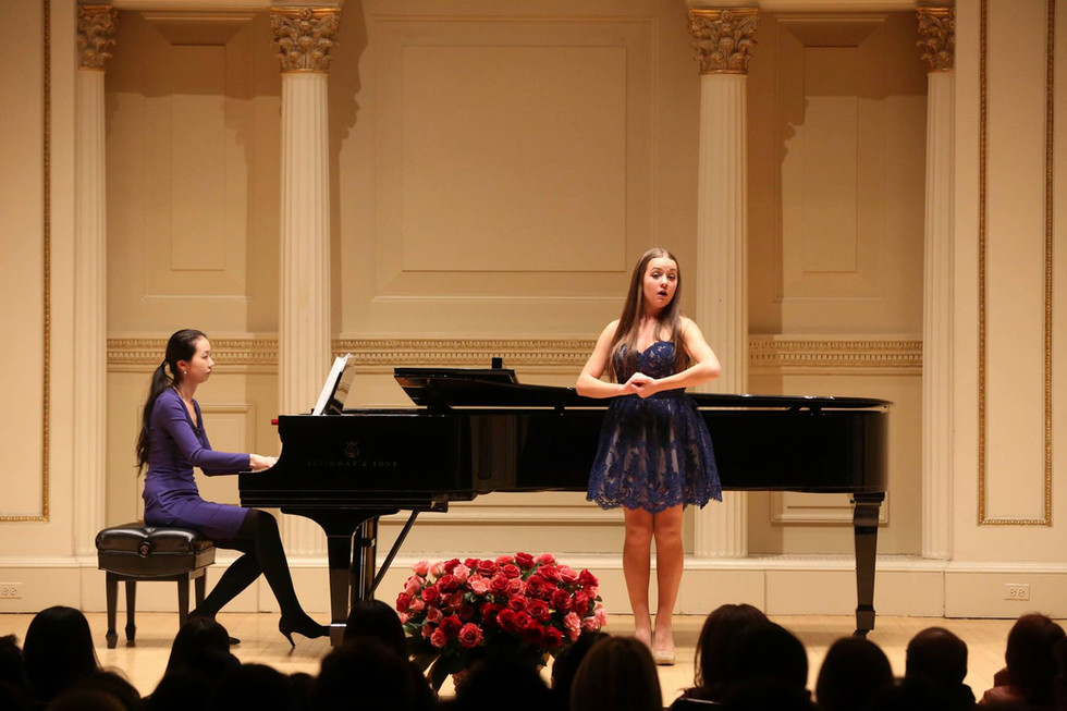 American Protege Winners Recital at Weill Recital Hall in Carnegie. Photo by Richard Termine (2015)