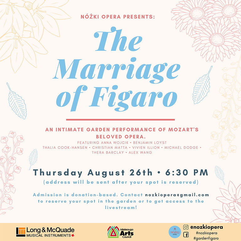 Figaro in the Garden AUGUST 26th