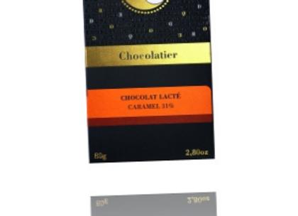 Tablette lactée caramel