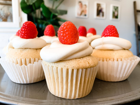 Raspberry Infused Cream Cheese Cupcakes