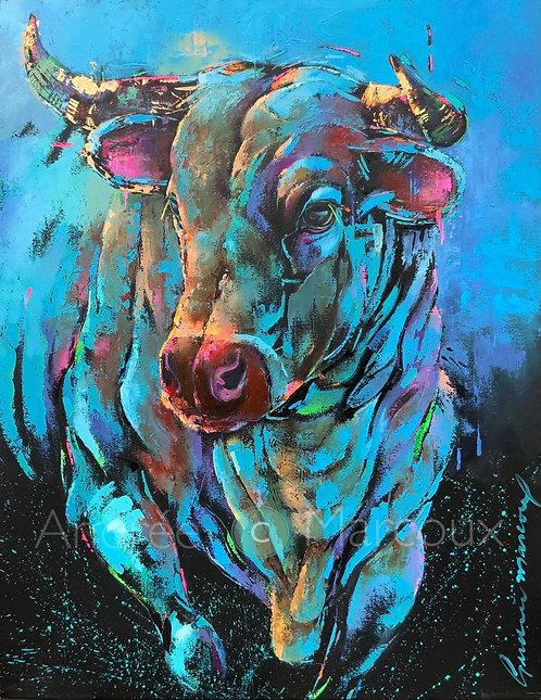 Malabar-Peinture à l'huile de l'artiste Andrée Marcoux-art toro