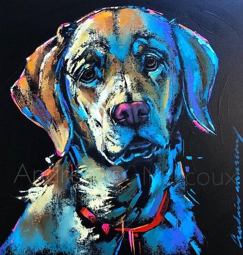 Inconditionnellement-Peinture de Andrée Marcoux-art animalier québec Canada