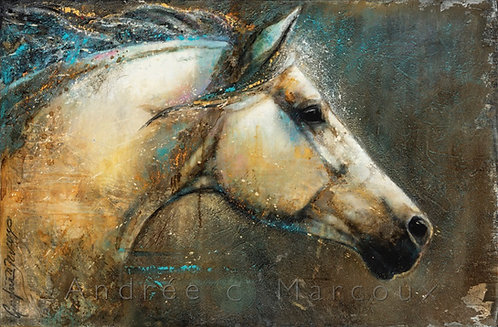 Giclée de Andrée Marcoux-art cheval québec Canada