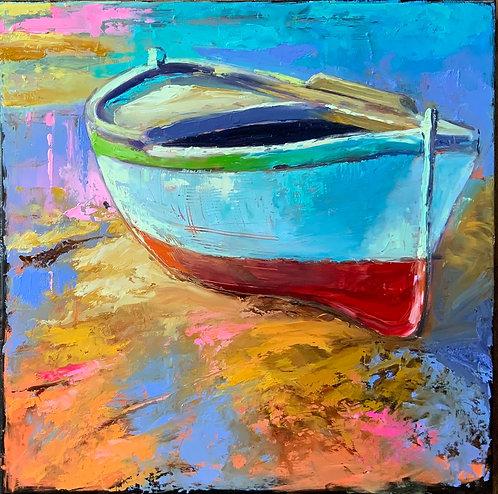 L'îlot-Peinture de Andrée Marcoux-20 x 20-Artiste du Québec