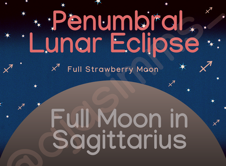 Welcome to the Penumbral Lunar Eclipse in Sagittarius 🌕♐!