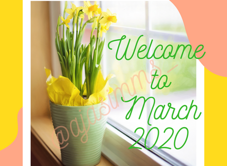 Welcome to March 2020 💐🌻🌷🌹🌺!