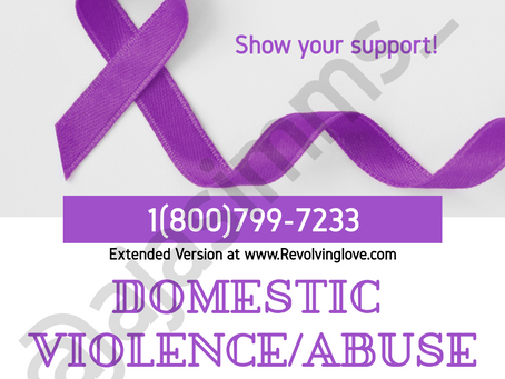 Domestic Violence/Abuse Awareness Month 💜!