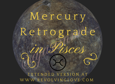 Welcome to Mercury Retrograde in Pisces ♓!