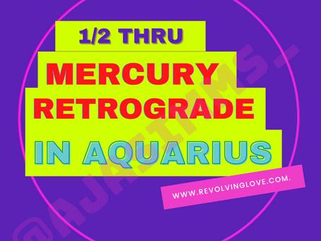 We're half way thru Mercury Retrograde in Aquarius 🌌♒!