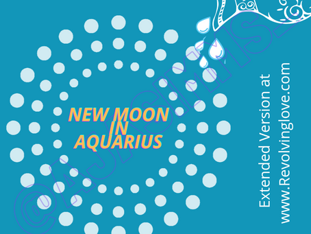 Welcome to the New Moon in Aquarius 🌑♒!
