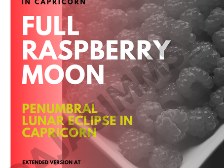 Welcome to the Full Moon in Capricorn 🌕🌌♑ (Penumbral Lunar Eclipse)!
