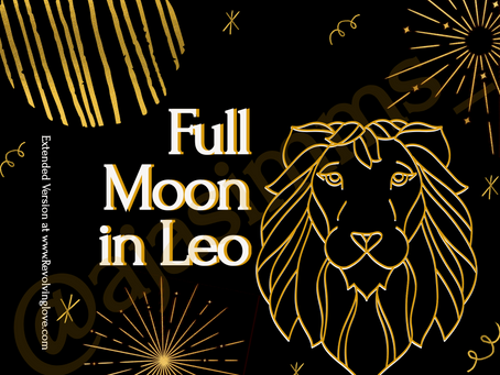 Welcome to the Full Moon in Leo 🌕♌!
