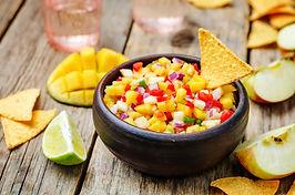 Mango Loco Crunchy Salsa Dip and Chips!