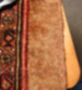Repaired hamadan Persian rug
