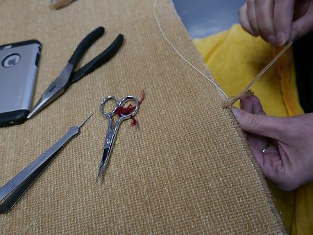 Rug side repairing