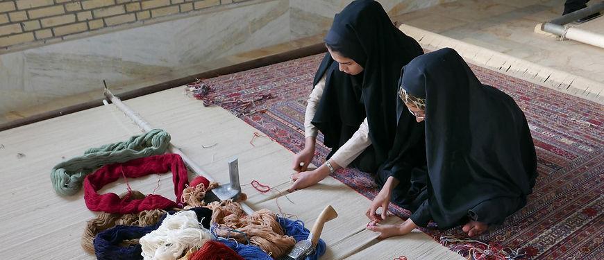 Rug weaving at Zollanvari in Sirjan,Iran