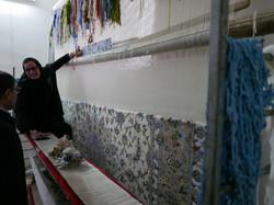 Kashan weaver with Reza Zollanvari
