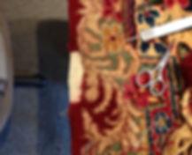 Kerman persian rug reweaving