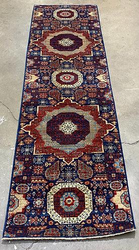 Afghan hand woven rug  2.9x9.8
