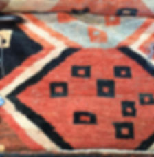 Rug repaired by our expert rug restorer
