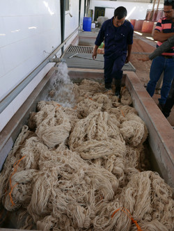 wetting out wool