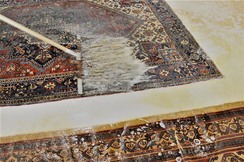 rug washig by hand