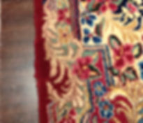Finished reweave on  Persian Kerman rug