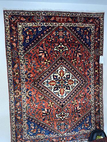 Vintage Persian Bakhtiari  4.11 x6.11 circa 1930-40's