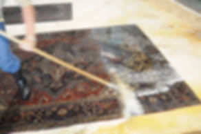 We clean rugs by hand at Renaissance Rug Cleaning Inc.