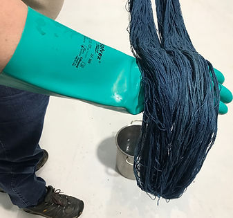 Randy dyeing with Indigo