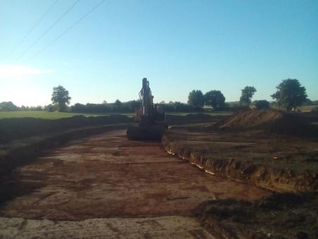 Construction des chemins d'accès