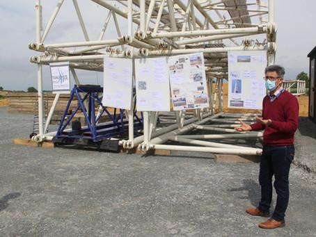 Le Conseil SAS et la SEM en visite du chantier