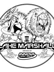 Innova Disc Golf Tournament at Lake Marshall Stamp Illustration