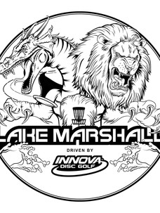 Innova Disc Golf Tournament at Lake Marshall Stamp Illustration