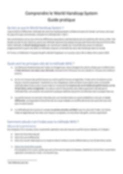 World Handicap System - Guide pratique j