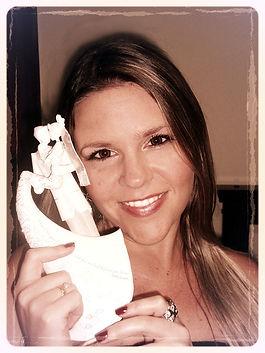 Gina Freehill wedding cake topper kiss