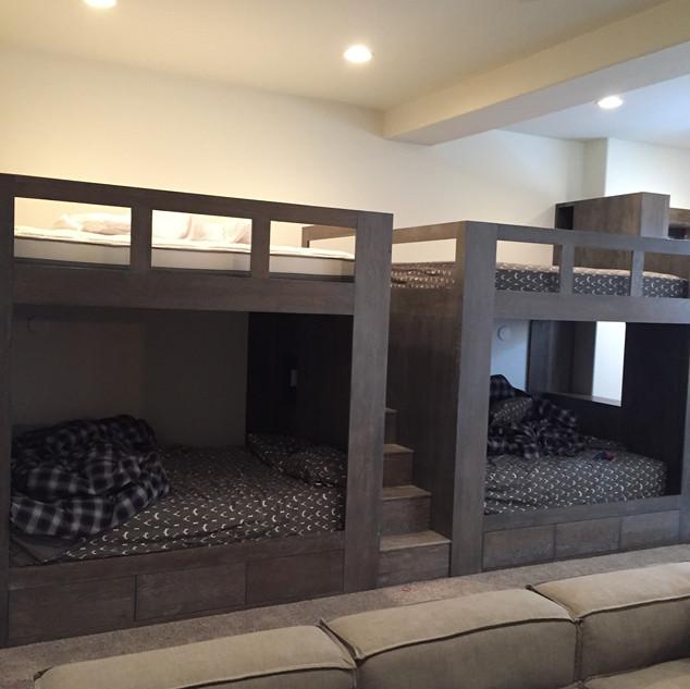 Rustic oak bunk beds