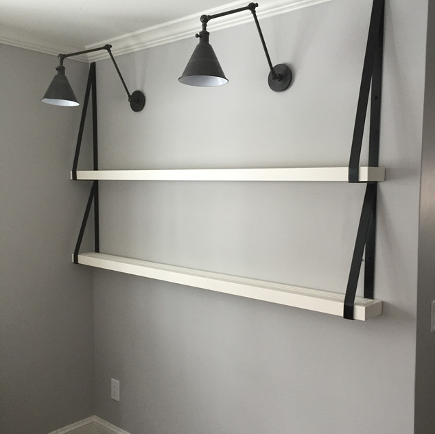 Steel and wood shelves