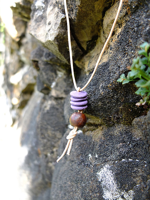ethno terracotta clay bodhi tree necklaces