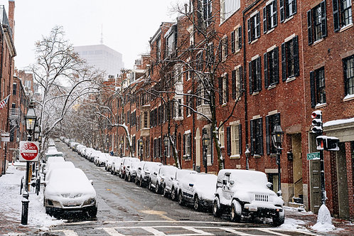 Beacon Hill in the winter 2