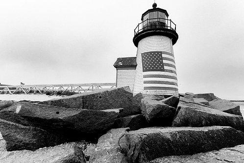 Brant Point Lighthouse BW