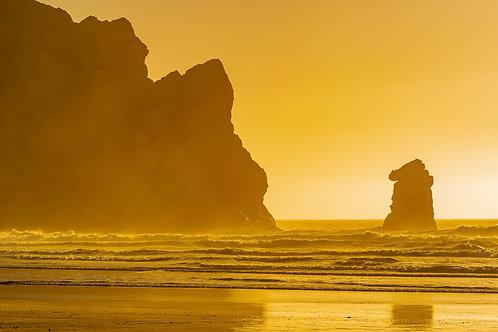 Sunset colors at Morro Rock