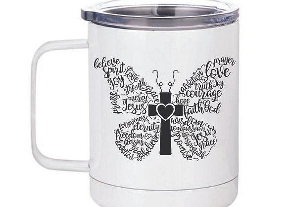 Butterfly 15oz travel mug