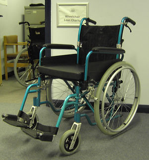 One of our manual wheelchairs
