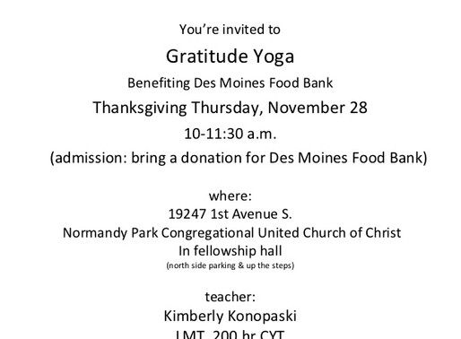 Location of Gratitude Yoga has changed!! Needed more space!