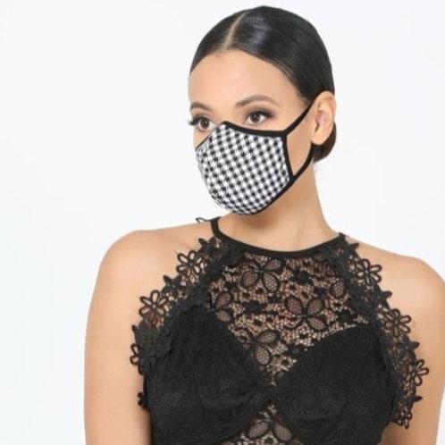 Black Check Mask