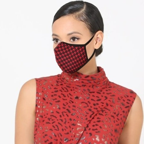 Red Check Mask